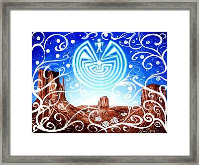 Framed Print featuring the painting Desert Hallucinogens by Michelle Dallocchio