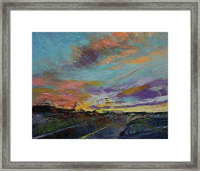 Desert Highway Framed Print by Michael Creese