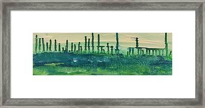 Desert Horizon Vertical Framed Print