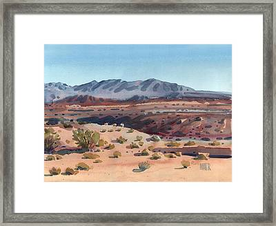 Desert In New Mexico Framed Print by Donald Maier