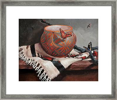 Desert Jewels Framed Print by Rebecca Riel