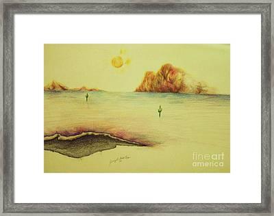 Desert Lake  Framed Print by Jamey Balester