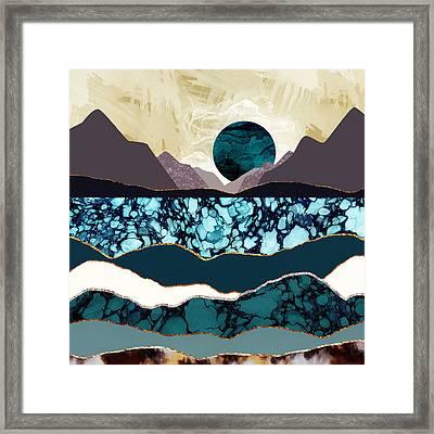 Desert Lake Framed Print