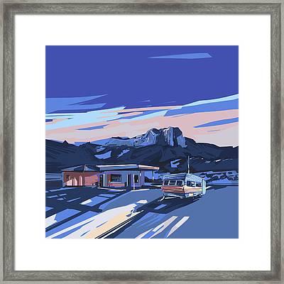 Desert Landscape 2 Framed Print by Bekim Art