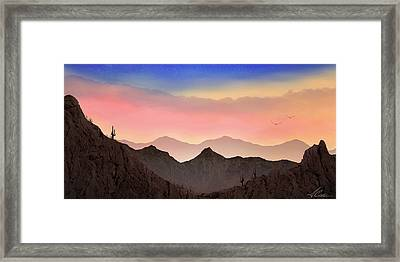 Framed Print featuring the photograph Desert Landscape by Anthony Citro
