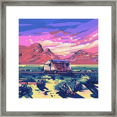 Desert Landscape Framed Print by Bekim Art
