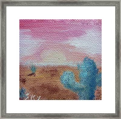 Desert Landscape Framed Print by Jera Sky
