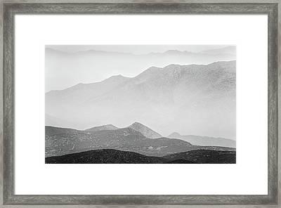 Desert Layers Framed Print