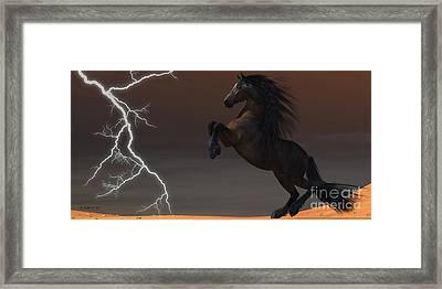 Desert Lightning Horse Framed Print
