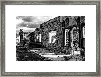 Desert Lodge Bw Framed Print