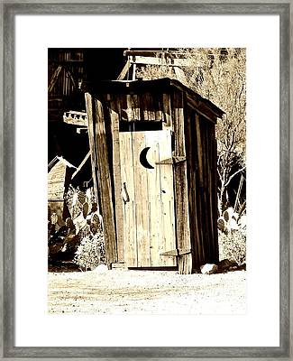 Desert Loo Framed Print by Cathy Dunlap
