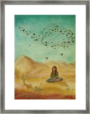 Desert Mantra Framed Print