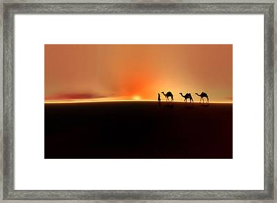 Framed Print featuring the photograph Desert Mirage by Valerie Anne Kelly