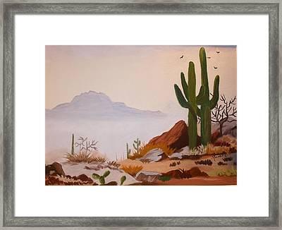 Desert Mist Framed Print