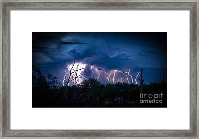 Desert Monsoon Framed Print