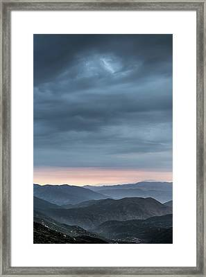 Desert Monsoon Framed Print