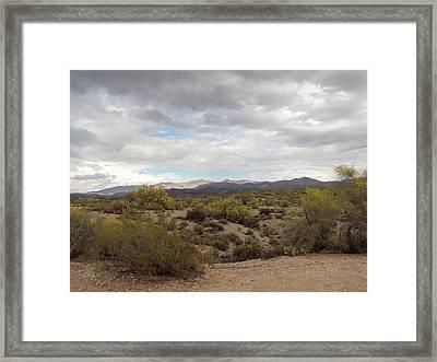 Framed Print featuring the photograph Desert Moods by Gordon Beck
