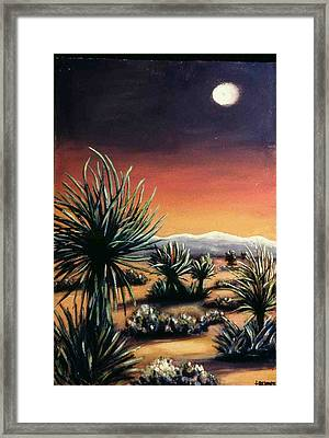 Desert Moon Framed Print by Helen O Hara