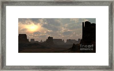 Desert Morning Framed Print