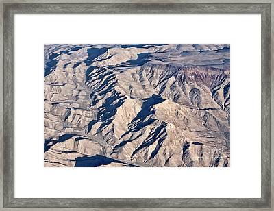 Framed Print featuring the photograph Desert Mountain Road by Linda Phelps