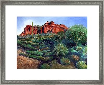 Desert Mountain Tapestry Framed Print by Kent Looft
