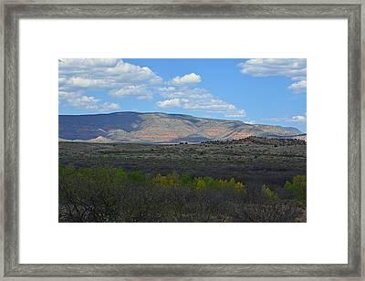 Desert Mountains - Verde Canyon Framed Print