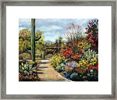 Desert Museum Garden Tucson Framed Print