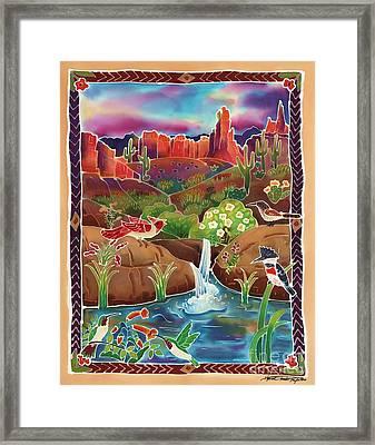 Desert Oasis Framed Print
