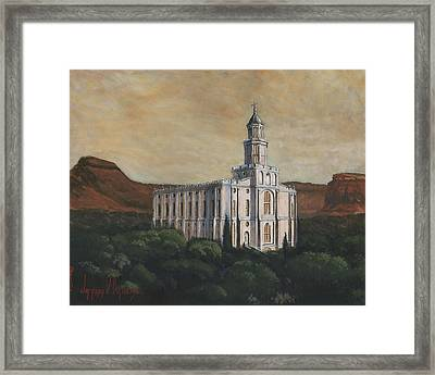 Desert Oasis Framed Print by Jeff Brimley