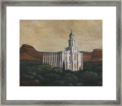 Desert Oasis Framed Print by Jeff Brimley