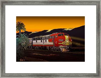 Desert Palms Framed Print