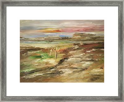 Desert Pass Framed Print by Edward Wolverton
