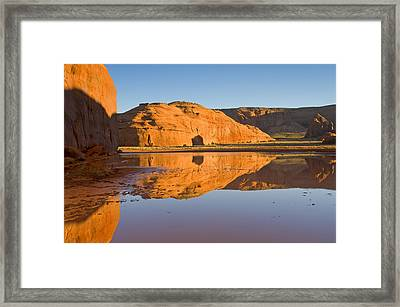 Desert Pools Framed Print by Mike  Dawson