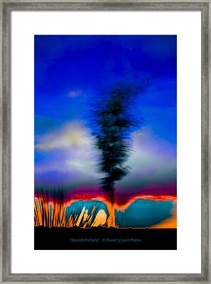 Framed Print featuring the photograph Desert Pottery by Beverly Parks