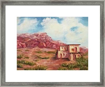 Desert Pueblo Framed Print