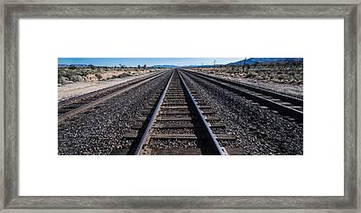 Desert Rails Framed Print