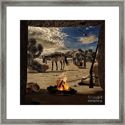 Desert Rest Stop Framed Print