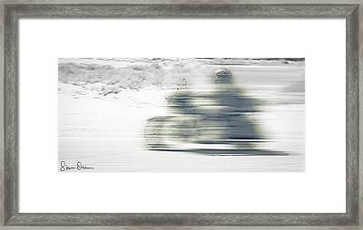 Desert Ride - Motorcyclist  - Signed Limited Edition Framed Print