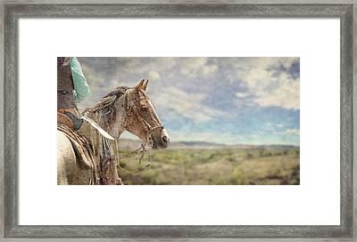 Desert Ride Framed Print by Rick Mosher