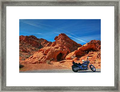 Framed Print featuring the photograph Desert Rider by Charles Warren