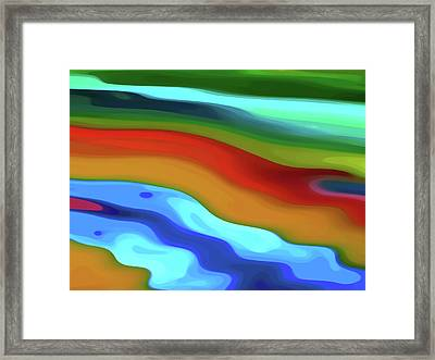 Desert River Flowing By Framed Print by Amy Vangsgard