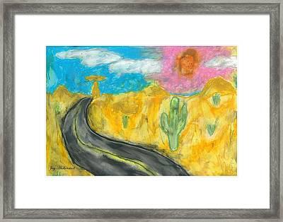 Desert Road Framed Print by Jayson Halberstadt
