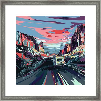 Desert Road Landscape Framed Print by Bekim Art