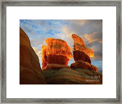 Desert Rock Desert Light Framed Print by Bob Christopher