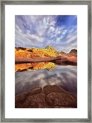 Desert Rock Drama Framed Print