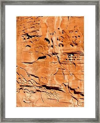 Desert Rock Framed Print by Rae Tucker