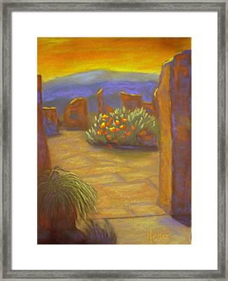 Desert Rose Framed Print by Marcia  Hero