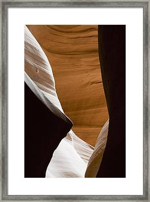 Desert Sandstone Abstract Framed Print