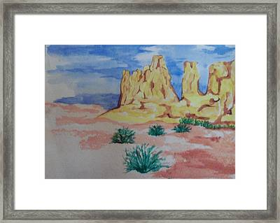 Framed Print featuring the painting Desert Sky by Erika Chamberlin