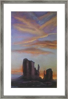 Desert Sky Framed Print by Helen O Hara